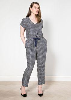 Geometric print jumpsuit - Violeta | VIOLETA BY MANGO