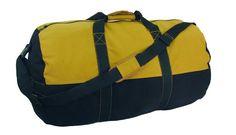 2 Toned Zippered Canvas Duffel Bag - Black Body / Tan Accents (14'' x 24'') - $15.59 - 22% off.