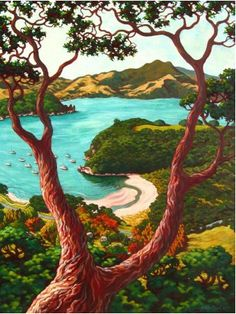A blog about food, art, travel, music, books and cryptic crosswords with some cartoons and quotations thrown in. Kiwiana, Landscape Paintings, Landscapes, Buy Prints, Olsen, New Art, New Zealand, Glass Art, Illustration Art