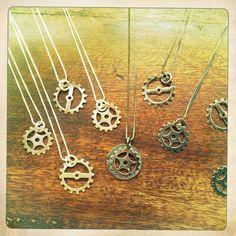 Evan Knox Designs gear necklaces.