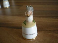 RARE SUTHERLAND  CHINA BEATRIX POTTER  THIMBLE - GOODY TIPTOES