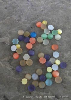 Half Round 6mm Cat Eye Mixed Colour Glass Bead by CedarCreekCanada