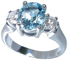 Aquamarine and Diamond in White Gold by Petersens Jewellers Merivale, Christchurch