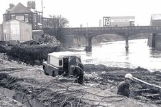 The old bridge which linked the original cattle market site on the right to the Cattle Market Hotel, which later became the Smithfield, on Meadow Road Council House, Show Cattle, Over The River, Derbyshire, Great Photos, Background Images, 1970s, Bridge, Old Things