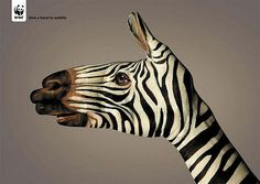 """Give a hand to Wildlife"", a brilliant campaign by World Wildlife (WWF). Be sure to check out more posters from this series."