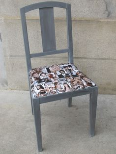relooking d 39 une chaise en paille marron avec de la peinture en rouge dulux valentine et assise. Black Bedroom Furniture Sets. Home Design Ideas