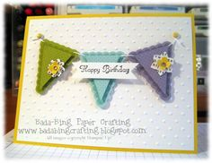 loving all the new cards with the brand new Stampin Up Pennants!