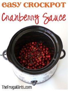 Easy Crockpot Cranberry Sauce