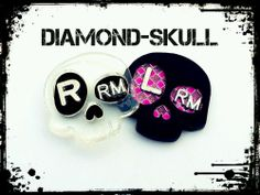 DIAMOND-SKULL X-Ray marker set 2 initials