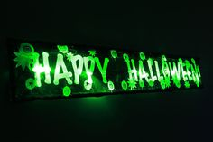 Flashing Halloween decoration sign 3FT prop light up party spider pumpkin led in Home, Furniture & DIY, Celebrations & Occasions, Party Supplies | eBay