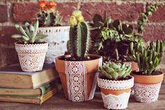 LUNAdei Creativi   DIY Sunday Project: Vasi in Terracotta molto Glamour!   http://lunadeicreativi.com