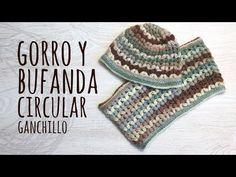 Tutorial Conjunto Gorro y Bufanda Circular Ganchillo | Crochet - YouTube