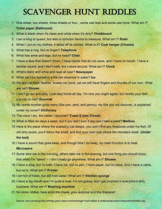 My Newfound Love of Scavenger Hunts: 10 Reasons to Try Them Best Picture For harry potter Riddles For Your Taste You are looking for something, and it is going to tell you exactly what you are looking Scavenger Hunt Birthday, Christmas Scavenger Hunt, Scavenger Hunt For Kids, Christmas Games, Boyfriend Scavenger Hunt, Funny Scavenger Hunt Ideas, Mall Scavenger Hunt, School Scavenger Hunts, Halloween Scavenger Hunt