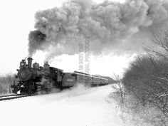 Amazon.com: VINTAGE PHOTOGRAPHY STEAM TRAIN WINTER SNOW FINE ART PRINT POSTER CC2402: Posters & Prints