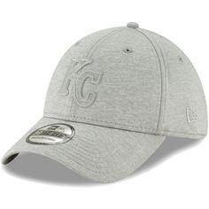 cbc2213e274b5 Men s Kansas City Royals New Era Gray Logo Shade 39THIRTY Flex Hat