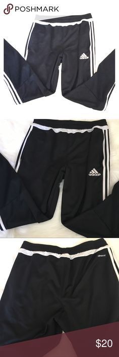 Adidas climacool size L zip pocket zip leg pants Adidas climacool size L zip pocket, skinny zip leg pants black with white stripe good used condition worn only a couple times. Not thrifted. adidas Pants Sweatpants & Joggers