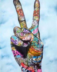 Graffiti Art, Murals Street Art, Street Wall Art, Art Pop, Hand Kunst, Costume Viking, Modern Art, Contemporary Art, Urbane Kunst