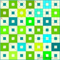 Grids - walking foot quilting by Petit Design Co., via Flickr Straight Line Quilting Examples