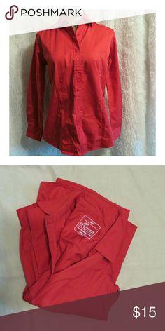 IQ Apparrel Red Uniform Shirt NWOT Red Uniform Sirt.  Womens Small #dummonkey #dummmonkeyposhmark IQ Apparel Tops