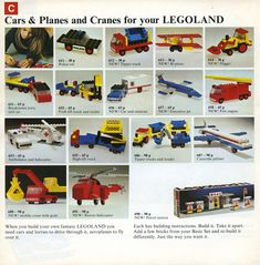 Vintage Lego, Lego Projects, Old Magazines, New Trucks, Fire Engine, Lego Building, Legoland, Police Cars, Old Toys