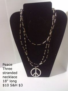 Peace Three Stand Necklace