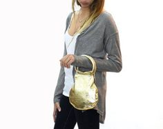 Sale, Gold leather handbag, Gold Clutch bag, gold leather handbags, extra small leather bag by limorgalili. Explore more products on http://limorgalili.etsy.com