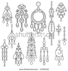 Find diamond chandelier earrings stock images in HD and millions of other royalty-free stock photos, illustrations and vectors in the Shutterstock collection. Jewelry Crafts, Jewelry Art, Gold Jewelry, Wire Jewelry, Beaded Jewelry, Diy Jewellery, Fashion Jewellery, Jewellery Storage, Fashion Accessories