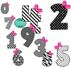 Kit Scrapbook Digital Numeros
