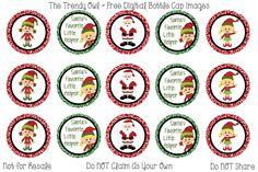Santa's Helper <3 Retired images uploaded as freebies! Enjoy! ~ FREE Digital Bottle Cap Images!! https://www.facebook.com/thetrendyowlUS http://www.thetrendyowl.com