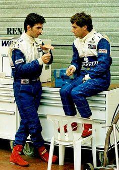 Damon Hill and Ayrton Senna #RePin by AT Social Media Marketing - Pinterest Marketing Specialists ATSocialMedia.co.uk