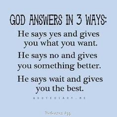 God Answers quote