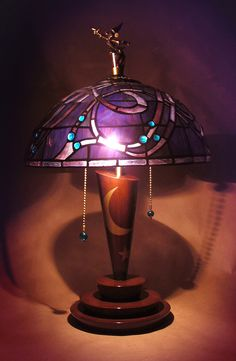 Fantasia Stained Glass Lamp Prototype  Designed by Jody Daily