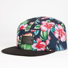 Vans Willa Womens 5 Panel Hat ($28) ❤ liked on Polyvore featuring accessories, hats, snapbacks, black, adjustable snapback hats, vans snapback, 5 panel snapback hats, vans hat and snap back hats