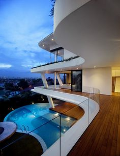 "The ""Ninety7 @ Siglap"" house was designed by Aamer Architects and is located in Singapore. The design is said to be inspired by the magnificent views that can be observed from atop Siglap Hill"