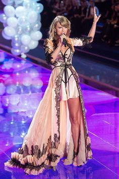 Taylor performs at the annual Victoria's Secret Fashion Show on Dec. 2, 2014, in London, England.   - Cosmopolitan.com