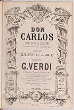 Giuseppe Verdi's opera Don Carlos.  Canzone del Velo.