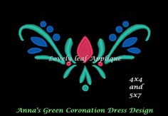 Anna Green Coronation Dress Embroidery by LovelyLeafApplique, $3.95