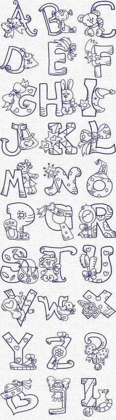 Diferentes tipos de letras / different kind of letters