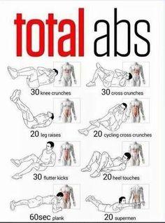 Tabla de ejercicios abdominales