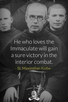 Maximilian Kolbe & his beloved Blessed Virgin Mary Catholic Religion, Catholic Quotes, Catholic Prayers, Catholic Saints, Roman Catholic, Church Quotes, St Maximilian, Catholic Gentleman, Blessed Mother Mary