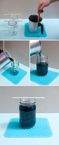 DIY Mason Jar Candles (via Something Turquoise)  - 52 Weeks Project