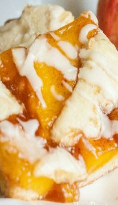 Peach Cobbler Bars ~ They turned out fantastic and made enough to feed a crowd!