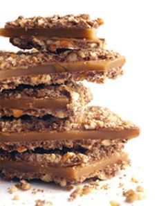 35 saltine crackers 2 sticks butter 1 cup brown sugar 1 package of semi-sweet chocolate chips 1 cup pecans, chopped Preheat oven to. Almond Toffee, Banana Pie, Toffee Candy, Candy Bark, Semi Sweet Chocolate Chips, Stick Of Butter, Gourmet Recipes, Drink Recipes, Just Desserts