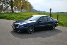 """A nice Volvo C70 whit a V70R front bumper and 18"""" wheels just the way I like it"""