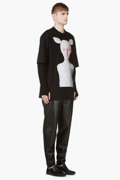 JUUN.J Black Oversize Oleg Dou Graphic T-Shirt