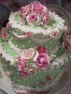 55 New Ideas shabby chic party food fake cake Gorgeous Cakes, Pretty Cakes, Amazing Cakes, Unique Cakes, Creative Cakes, Cupcakes, Cupcake Cakes, Shabby Chic Cakes, Fake Cake