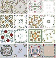 Cross Stitch Biscornu Pattern Pack 6 by Theflossbox on Etsy