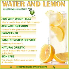 Will YOU SHARE/encourage one another?❣?  Lemon Water ❥➥❥ A food's pH value is often not the same in the body. Lemons even though acidic, when inside our body are alkaline- forming when their compounds are released for absorption through the #metabolic process. With Water, Lemons restore the body's PH balance ~ http://www.stepintomygreenworld.com/healthyliving/warm-lemon-water-the-cup-of-goodness/  ♥SHARE✔Like✔Tag♥Comment✔Repost✔CARE♥  #Love / #Gratitude / Visit ❥ Step In2 My Green World…