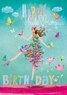 Happy Birthday card by Mila Marquis