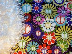 Girl Baby Kids Michael Miller Peace Retro Classic 70's by Dayzeez. $36.95, via Etsy.